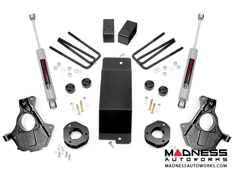 "Chevy Silverado 1500 4WD Suspension Lift Kit w/KNUCKLE KIT - 3.5"" Lift"